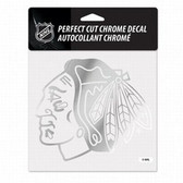 Chicago Blackhawks 6x6 Perfect Cut Decal - Chrome