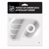 Philadelphia Flyers 6x6 Perfect Cut Decal - Chrome
