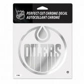 Edmonton Oilers 6x6 Perfect Cut Decal - Chrome