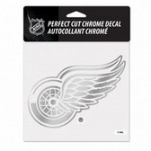 Detroit Red Wings 6x6 Perfect Cut Decal - Chrome