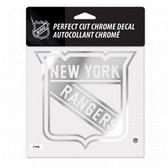 New York Rangers 6x6 Perfect Cut Decal - Chrome