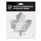 Toronto Maple Leafs 6x6 Perfect Cut Decal - Chrome
