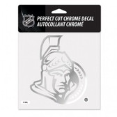 Ottawa Senators 6x6 Perfect Cut Decal - Chrome