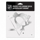 Pittsburgh Penguins 6x6 Perfect Cut Decal - Chrome