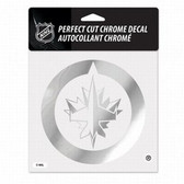 Winnipeg Jets 6x6 Perfect Cut Decal - Chrome