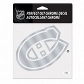 Montreal Canadiens 6x6 Perfect Cut Decal - Chrome