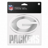 Green Bay Packers 6x6 Perfect Cut Decal - Chrome