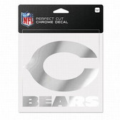 Chicago Bears 6x6 Perfect Cut Decal - Chrome