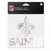 New Orleans Saints 6x6 Perfect Cut Decal - Chrome