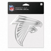 Atlanta Falcons 6x6 Perfect Cut Decal - Chrome