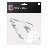 Arizona Cardinals 6x6 Perfect Cut Decal - Chrome