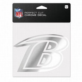 Baltimore Ravens 6x6 Perfect Cut Decal - Chrome