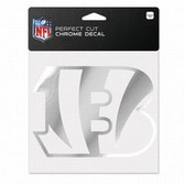 Cincinnati Bengals 6x6 Perfect Cut Decal - Chrome