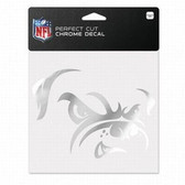 Cleveland Browns 6x6 Perfect Cut Decal - Chrome