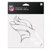 Denver Broncos 6x6 Perfect Cut Decal - Chrome