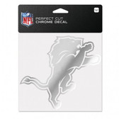 Detroit Lions 6x6 Perfect Cut Decal - Chrome