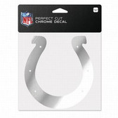 Indianapolis Colts 6x6 Perfect Cut Decal - Chrome