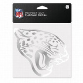 Jacksonville Jaguars 6x6 Perfect Cut Decal - Chrome