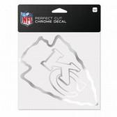 Kansas City Chiefs 6x6 Perfect Cut Decal - Chrome