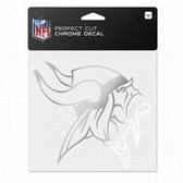 Minnesota Vikings 6x6 Perfect Cut Decal - Chrome