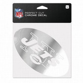 New York Jets 6x6 Perfect Cut Decal - Chrome