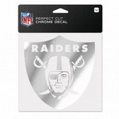 Oakland Raiders 6x6 Perfect Cut Decal - Chrome