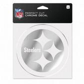 Pittsburgh Steelers 6x6 Perfect Cut Decal - Chrome