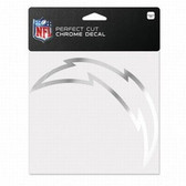 San Diego Chargers 6x6 Perfect Cut Decal - Chrome