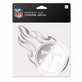 Tennessee Titans 6x6 Perfect Cut Decal - Chrome