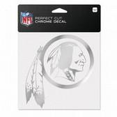 Washington Redskins 6x6 Perfect Cut Decal - Chrome