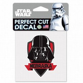 Nebraska Cornhuskers 4x4 Perfect Cut Decal - Star Wars - Darth Vader