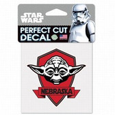 Nebraska Cornhuskers 4x4 Perfect Cut Decal - Star Wars - Yoda