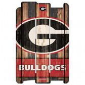 Georgia Bulldogs Wood Fence Sign