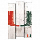 Miami Hurricanes Wood Fence Sign