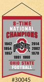 Ohio State Buckeyes Champions Banner