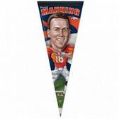 Denver Broncos Peyton Manning Caricature Premium Pennant