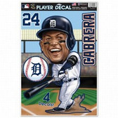 Detroit Tigers Miguel Cabrera Caricature 11x17 Multi Use Decal