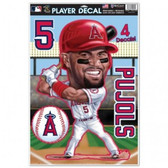 Los Angeles Angels Albert Pujols Caricature 11x17 Multi Use Decal