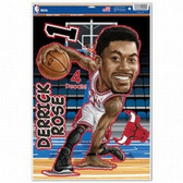 Chicago Bulls Derrick Rose Caricature 11x17 Multi Use Decal