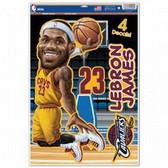 Cleveland Cavaliers Lebron James Caricature 11x17 Multi Use Decal