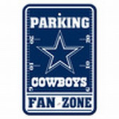 Dallas Cowboys 12x18 Plastic Fan Zone Sign