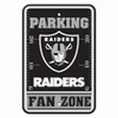 Oakland Raiders 12x18 Plastic Fan Zone Sign