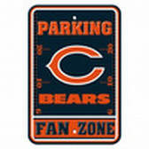 Chicago Bears 12x18 Plastic Fan Zone Sign