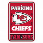Kansas City Chiefs 12x18 Plastic Fan Zone Sign