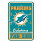 Miami Dolphins 12x18 Plastic Fan Zone Sign