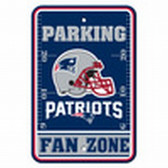 New England Patriots 12x18 Plastic Fan Zone Sign
