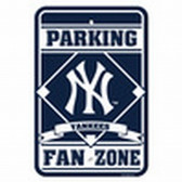 New York Yankees 12x18 Plastic Fan Zone Sign