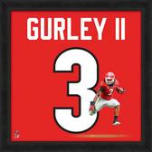 Georgia Bulldogs Todd Gurley 20x20 Uniframe Jersey Photo