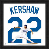 Los Angeles Dodgers Clayton Kershaw 20x20 Uniframe Jersey Photo
