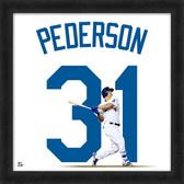 Los Angeles Dodgers Joc Pederson 20x20 Uniframe Jersey Photo